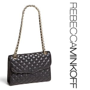 Rebecca Minkoff Quilted Affair black leather bag